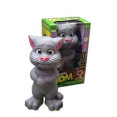 Figurina Animale - Jucaria Talking Tom Motanul Care Vorbeste Si Reactioneaza La Atingere