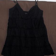 Maieu cu bustiera incorporata Victoria's Secret (L) - negru - cu volane - Top dama Victoria S Secret, Marime: L, Casual