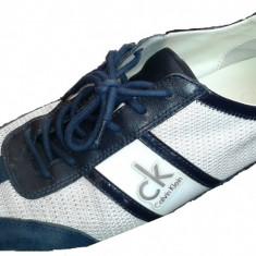 Pantofi Calvin Klein-Piele-Numarul 43 - Pantofi barbati Calvin Klein, Culoare: Alb, Alb