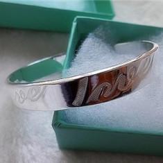 BRATARA fixa ARGINT marcat 925 inscriptionata LOVE reglabila, NOUA+cutie cadou - Bratara argint pandora, Femei