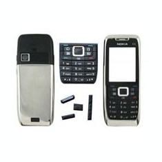Vand Carcasa Nokia E51 Noua Completa Metalica Gri Silver Argintie Argintiu
