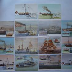 Ilustrata maxima carte, maxime nave cu aburi - Sao Tome &Principe (14 ilustrate)