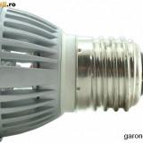 Bec/neon - Bec cu 3 LED-uri de 1W, lumina alba, 220 V, dulie E27 /6475