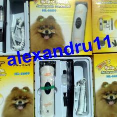 Aparat Masina tuns caini pisici animale Pet Hair Clipper functioneaza cu acumulator sau la 220V,