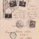 Carti Postale Romania pana la 1904, Circulata, Printata - Salutari din Sighisoara-1901