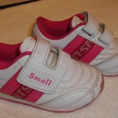 Adidasi copii, Fete, Marime: 21, Multicolor - Adidasi fetite mar.21 albi cu roz Small