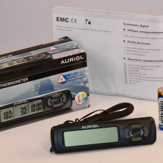 Termometru auto digital cu senzor de exterior si ceas - calitate foarte buna -