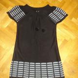 Bluza lunga GIL COLLECTION, Negru, Marime S - Pantaloni dama, Marime: S, Lungi, S, Bumbac
