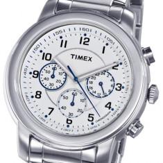 CEAS TIMEX Chronograph Model T2N167AJ Milan Classic Series, 5 ATM, model deosebit - Ceas barbatesc Timex, Sport, Quartz, Inox, Cronograf
