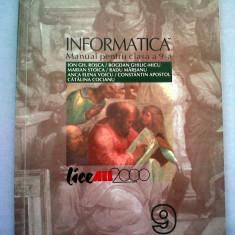 Ion Gh. Rosca s.a. - Informatica, manual pt. clasa a 9-a, Ed. All Educational, 1999, 156 pag. - Manual scolar all, Clasa 9