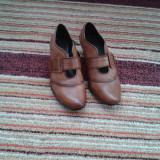 Pantofi dama, Marime: 39, Coniac - Pantofi piele dama coniac marimea 39