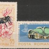 Romania 1965 - FAUNA ALBINE, APICULTURA, serie NESTAMPILATA M31