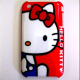 Husa Hello Kitty iphone 2 3 3gs + folie protectie ecran