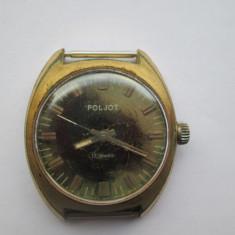 Ceas Barbatesc Poljot, Casual, Analog - Ceas Poljot placat cu aur Super Millitary, de colectie - functional