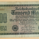Bancnota Straine - Germania 1000 mark marci 1922