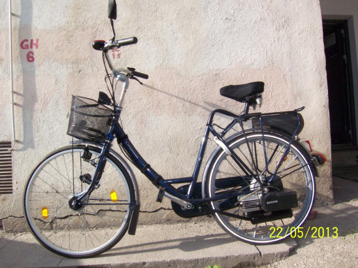 Bicicleta cu motor Sachs pe benzina - Companion (olandeza) foto mare