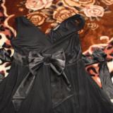 Bluzita babydoll cu fundita - Blugi dama, Negru