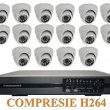 Sistem de supraveghere 16 camere interior si DVR SCV-1600, Suporta supraveghere si de pe TELEFONUL MOBIL