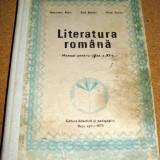 LITERATURA ROMANA - manual pentru clasa a XI a / Bucuresti 1978 - Manual Clasa a XI-a
