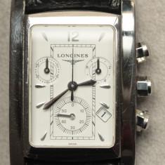 Ceas Barbatesc Longines, Lux - sport, Quartz, Inox, Piele, Cronograf - Longines Dolce Vita Cronograph - Original