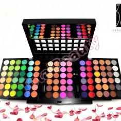 Trusa machiaj profesionala 96 culori Fraulein pe 5 palete cu oglinda aplicator - Trusa make up