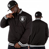 Geaca barbati - Geaca de baseball Joker Brand Raiders neagra.