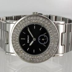 Ceas dama DKNY cu cristale Swarovski, Elegant, Inox, Analog