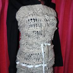 Rochie tricotate, Scurta, Fara maneca - Bluza lunga tricotata f Shic!!!