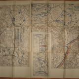 REGATUL ROMANIEI.harta militara cu aplicatii in zona Baraolt,Caciulata,Maerus,1934