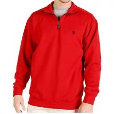 Hanorac U.S.Polo Assn - Barbati - 100% ORIGINAL - Pulover barbati US Polo Assn, Marime: M/L, Culoare: Rosu, Helanca, Bumbac