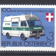 AUSTRIA 1981, Ambulanta, serie neuzata, MNH - Timbre straine, Transporturi