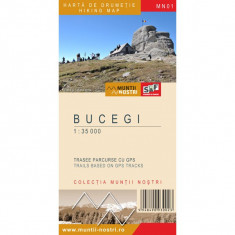 Schubert & Franzke Harta Muntii Nostri - Bucegi MN01 - Harta Turistica