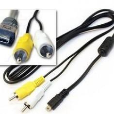 CABLU Camera AV Cable 8 pin for Panasonic, Olympus, Nikon, Minolta, Sony, FUJI, Pentax - Cablu foto
