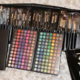 Set trusa machiaj Mac 168 fard ochi + trusa de 24 pensule par natural make up