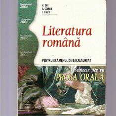 LITERATURA ROMANA - PENTRU EXAMENUL DE BACALAUREA SUBIECTE PENTRU PROBA ORALA - Teste Bacalaureat