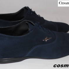 Pantofi barbati - Pantofi CESARE PACIOTTI 100% Piele Intoarsa Naturala - Bleumarin / Negru !!!