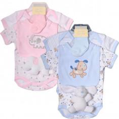 Bee Bo Set 5 piese hainute bebelusi nou nascuti 0-3 luni roz albastru, Marime: Masura unica