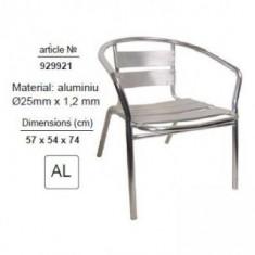 Scaun de gradina - Scaun din aluminiu, TopGarden 929921