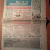 Ziarul muncitorul sanitar 21 iunie 1980