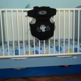 Patut lemn pentru bebelusi Baby Design, 1-3 ani, 120x60cm, Albastru - Vand urgent patut Bebe Design