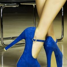 Pantofi Melissa cu toc inalt - Pantof dama Melissa, Marime: 38, Albastru