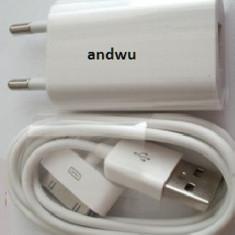 Incarcator priza + cablu date incarcare iPod, Incarcator iPod