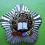 ROMANIA FRUNTAS IN INTRECERE 1976  PE SUPORT STEA ARGINTIE     [3 ]