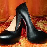Pantofi platforma - Pantof dama, Marime: 36, Culoare: Negru