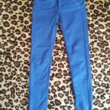 Pantaloni Albastri Zara - Pantaloni dama Zara, Marime: 36, Culoare: Albastru, Lungi, Albastru