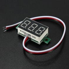 Voltmetru digital cu leduri albastre, 2.5-32 V, foarte precis, 3 digit si 3 fire