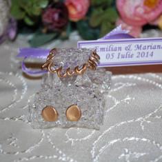 Marturii nunta/botez Masinuta cristal, CEL MAI MIC PRET DE PE PIATA, marturie, masina sticla