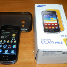 Samsung galaxy Mini 2 - Telefon mobil Samsung Galaxy Mini 2, Negru, Orange