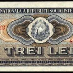 Bancnote Romanesti, An: 1966 - 3 LEI 1966 UNC - GREU DE GASIT IN UNC