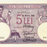 * Bancnota 5 lei 1920